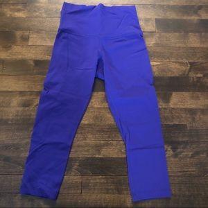 Purple lulu lemon crop leggings